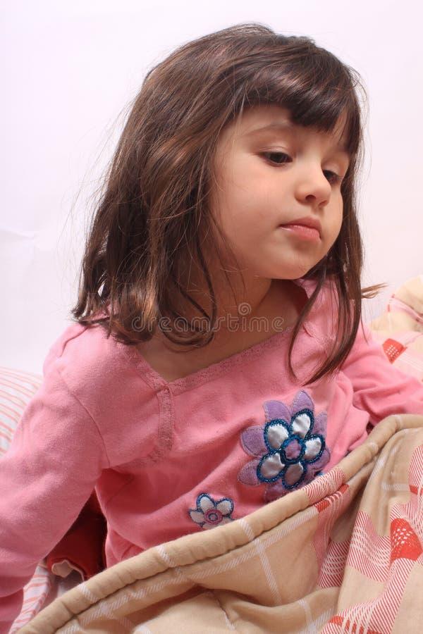Little girl bedtime royalty free stock image