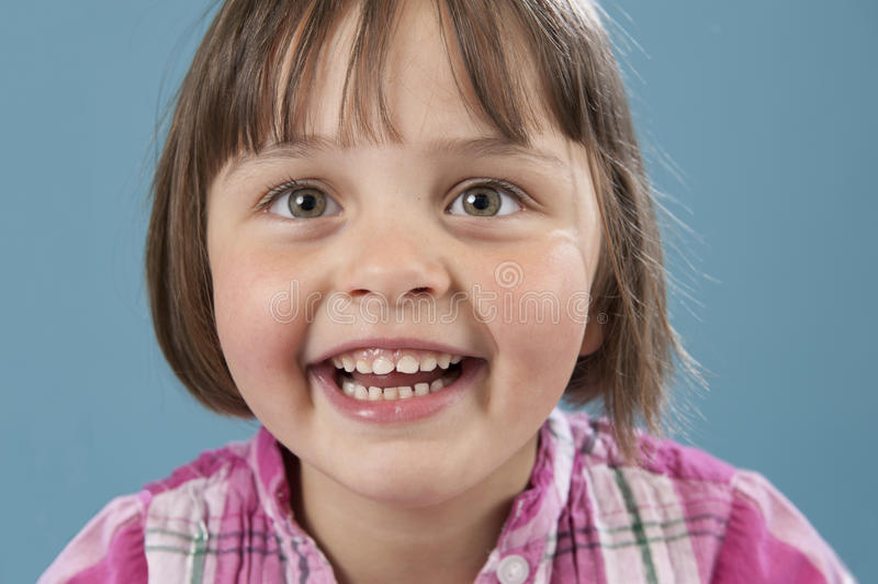 Little girl with big smile