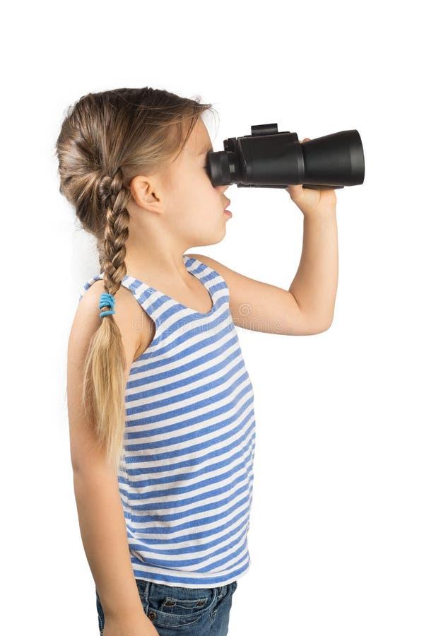 Download Little Girl With Binoculars Stock Photo - Image: 28756532