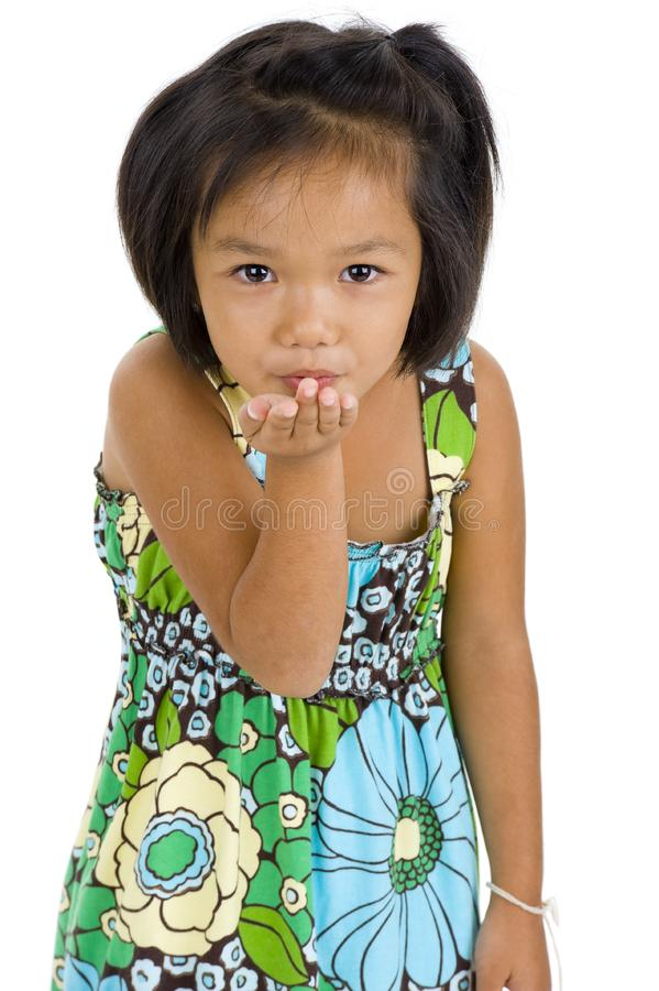 Download Little girl blowing a kiss stock image. Image of little - 15896573