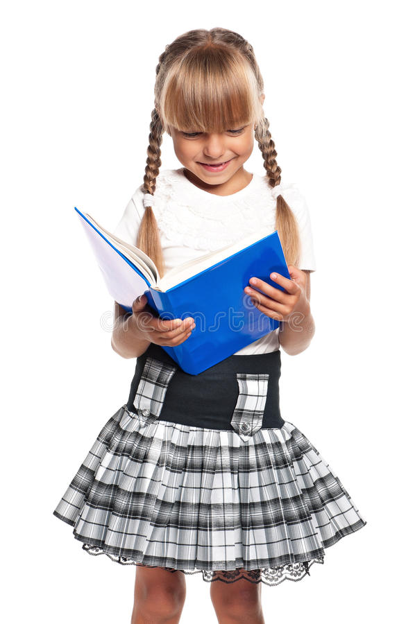 Download Little girl with book stock image. Image of background - 29315965