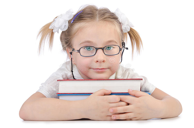 Download Little Girl With Books Stock Images - Image: 26373484