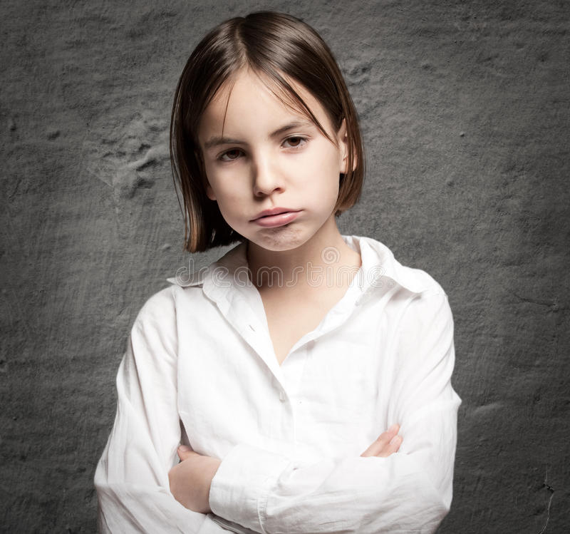 Download Little Girl With Bored Expression Stock Image - Image: 25620273