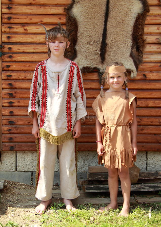 Download Little Girl And Boy In Front Of Leather Stock Image - Image: 25320907