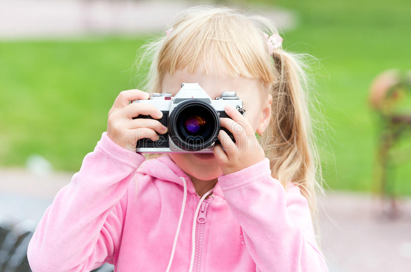 Download Little Girl With The Camera Stock Photo - Image: 15925350