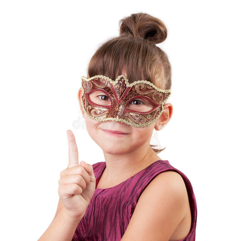 Download Little Girl In A Carnival Mask Stock Image - Image: 27207169