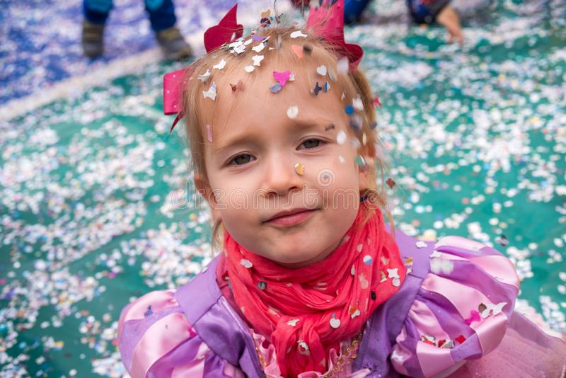 Little girl at carnival royalty free stock images