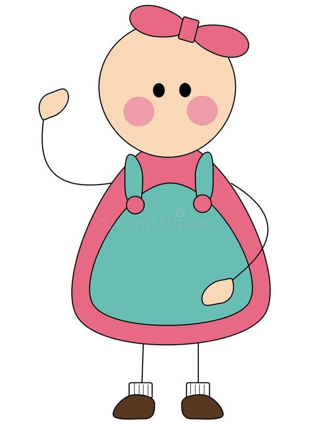 Little Girl Cartoon Stock Images