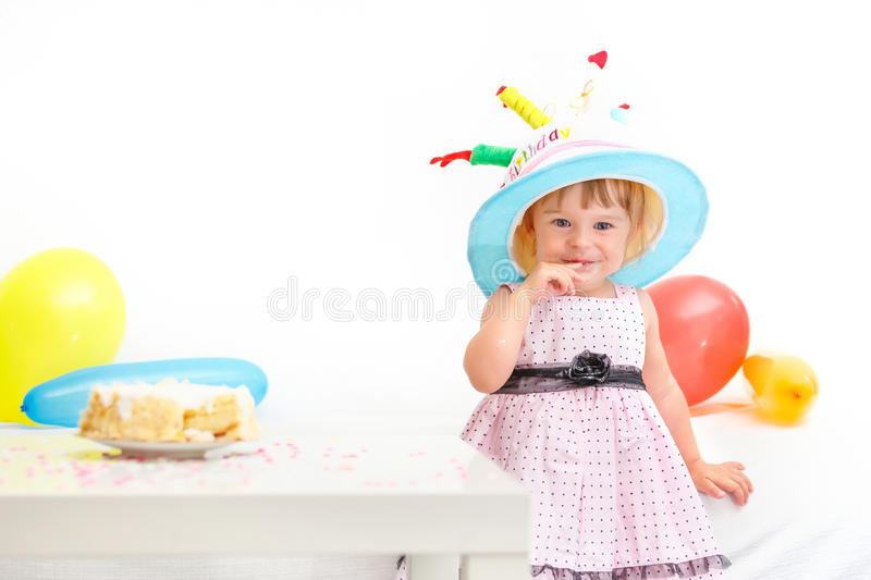 Download Little Girl Celebrating Second Birthday Stock Image - Image: 26069999