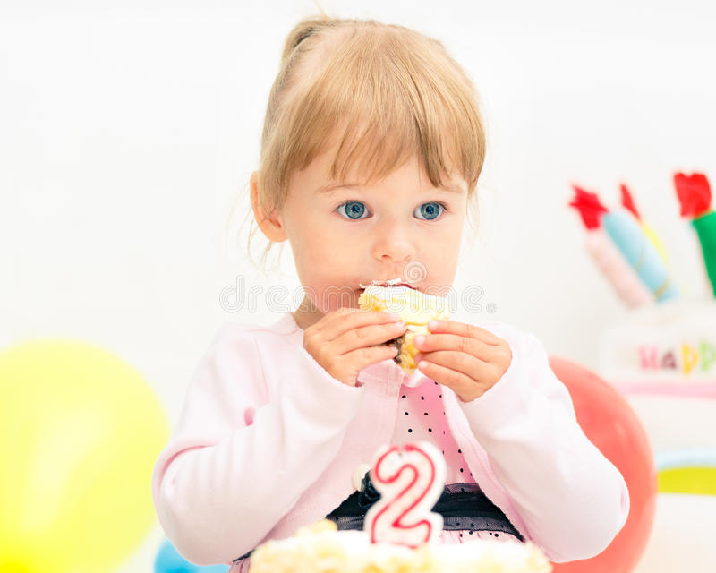 Download Little Girl Celebrating Second Birthday Stock Photo - Image: 26370010