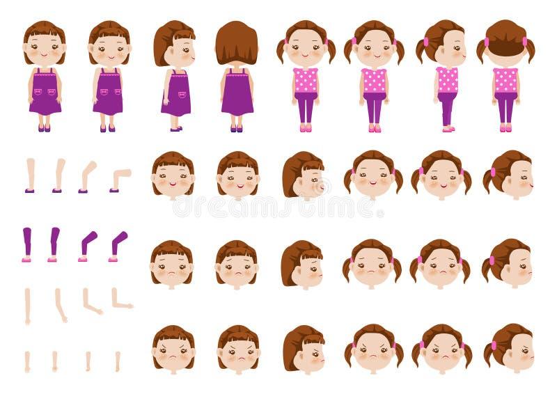 Little Girl stock illustration