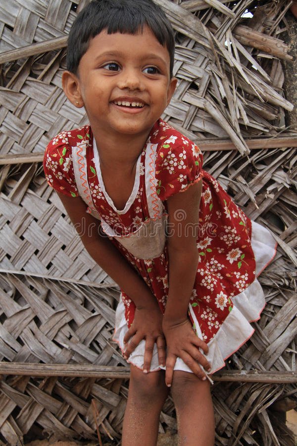 Little girl in Chilaw in Sri Lanka. July 19, 2012 stock photography