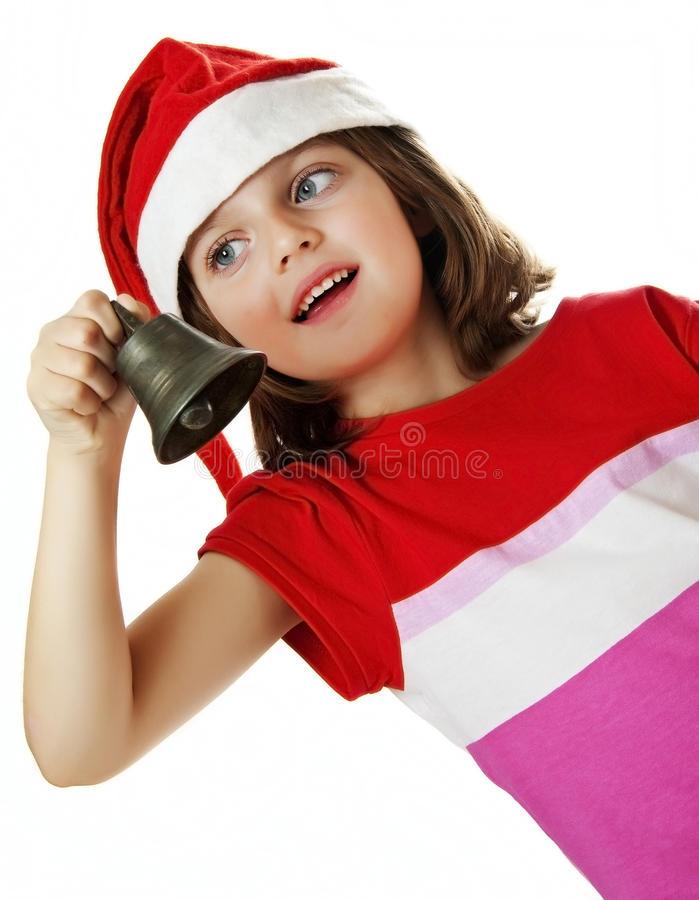 Download Little Girl With Christmas Bell Stock Photo - Image: 26917332