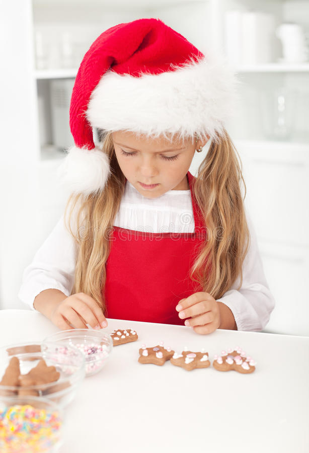 Download Little Girl With Christmas Cookies Stock Photo - Image: 21612092