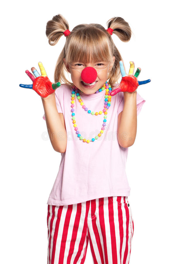 Download Little Girl With Clown Nose Stock Images - Image: 28930834