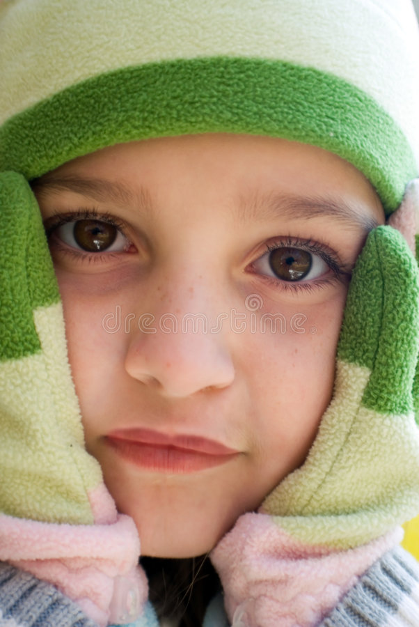Download Little Girl In Cold Weather Stock Image - Image of cold, face: 3600159