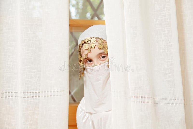 Little Girl Covering Face Hiding Royalty Free Stock Photos