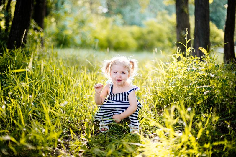 Little girl crying. royalty free stock image