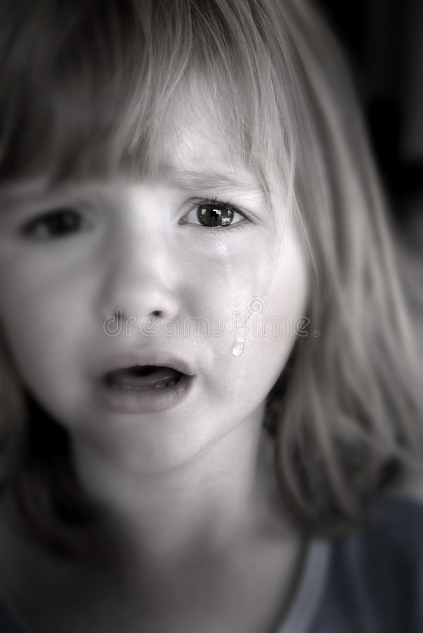 Download Little Girl Crying With Tears Stock Image - Image: 3180595