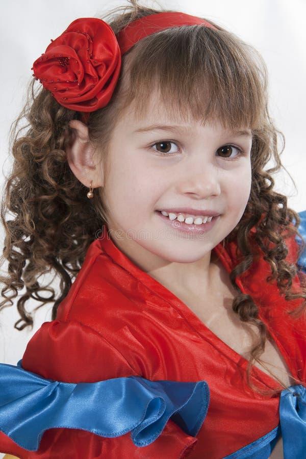 Download Little girl dancer. stock image. Image of dance, brown - 18251843