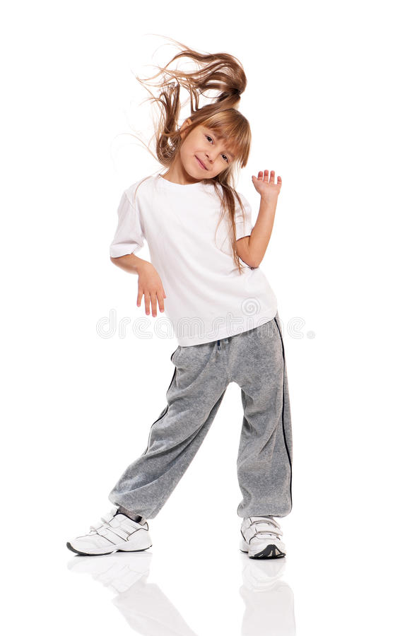 Download Little girl dancing stock image. Image of fitness, child - 28948771