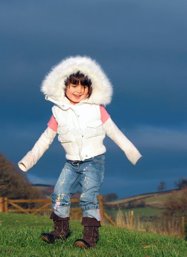 Download Little Girl Dancing stock photo. Image of field, dance - 457770