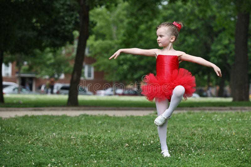 Little girl dancing stock photo. Image of dancing, dress - 5407866