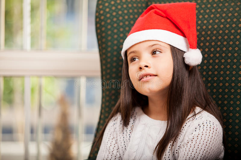 Download Little Girl Daydreaming At Home Stock Photo - Image: 34084346