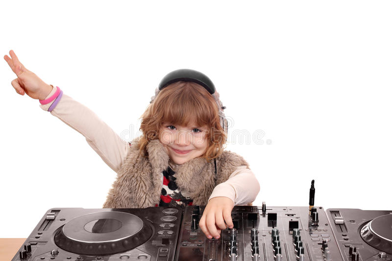 Download Little girl dj stock photo. Image of beauty, cheerful - 22925642