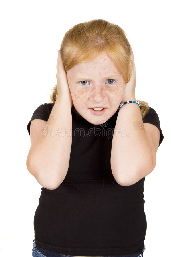 Download Little Girl Doesnt Want To Hear Royalty Free Stock Photography - Image: 6123637