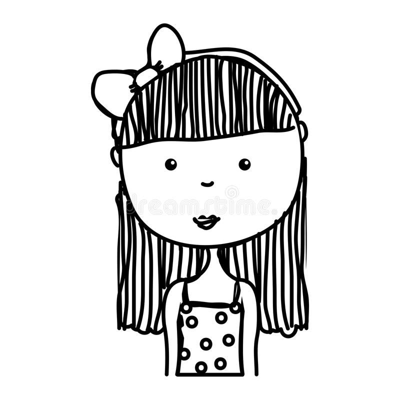 Little girl drawing isolated icon. Vector illustration design royalty free illustration