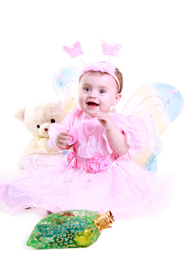 Little girl in a dress royalty free stock images