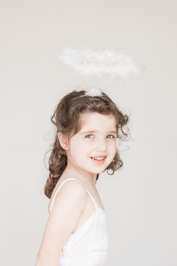 Download Little Girl Dressed As An Angel Stock Image - Image: 33697435