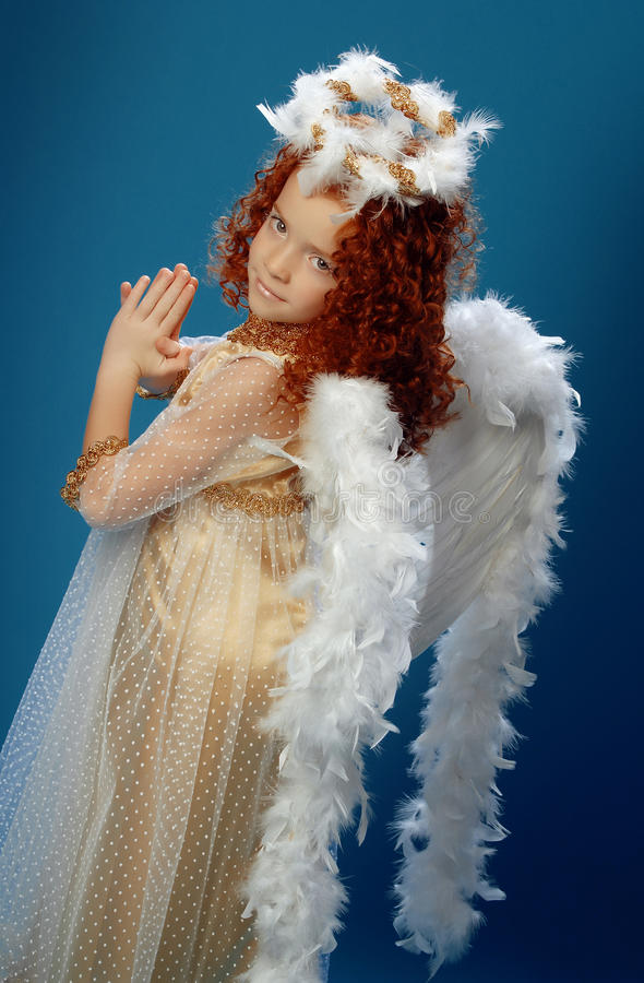 Download Little Girl Dressed As An Angel Stock Photo - Image: 36450456