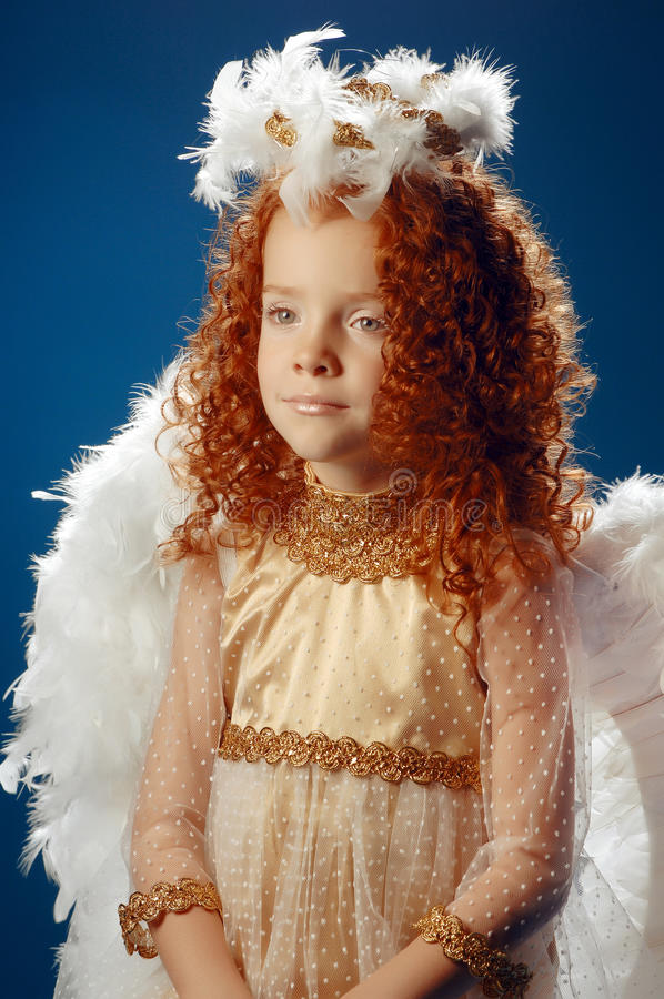 Download Little Girl Dressed As An Angel Stock Image - Image: 36450525