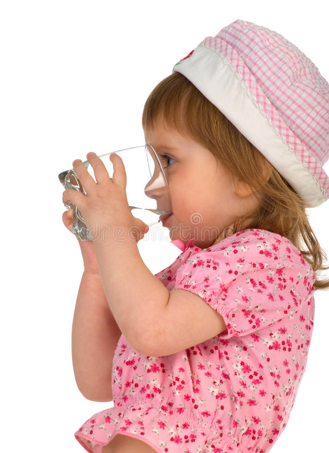 Download Little Girl Drink The Water Stock Photo - Image of caucasian, holding: 9396342