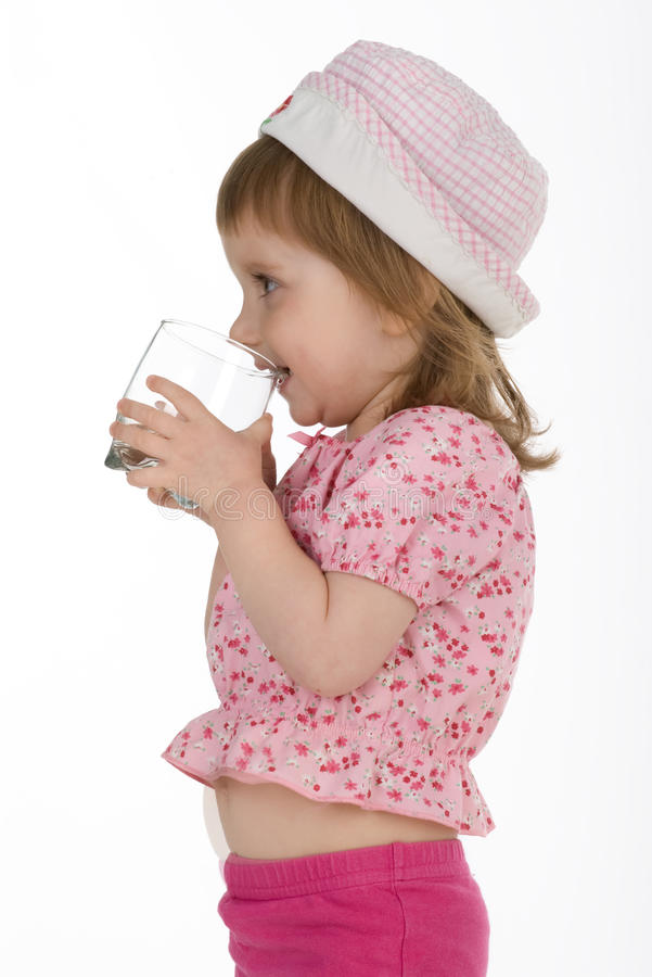 Download Little Girl Drink The Water Stock Photo - Image: 9966970