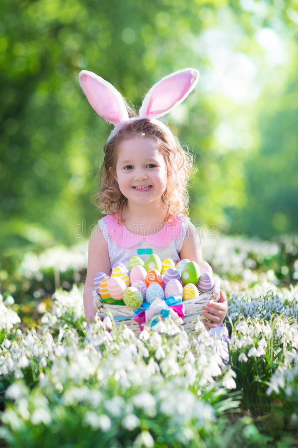 Little Girl With Easter Bunny Ears Stock Image