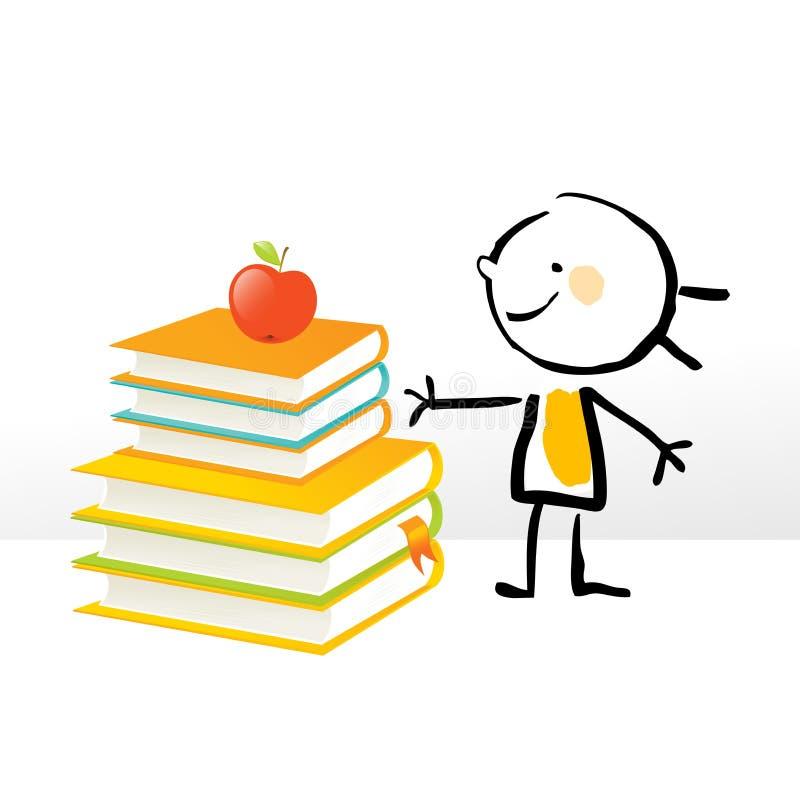 Little girl education stock illustration