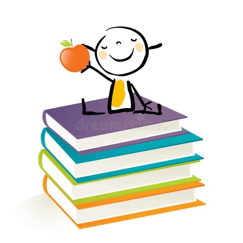 Little girl education vector illustration