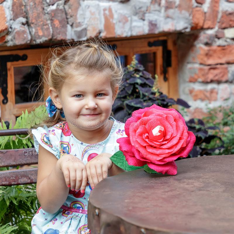 Little girl and emotion royalty free stock image