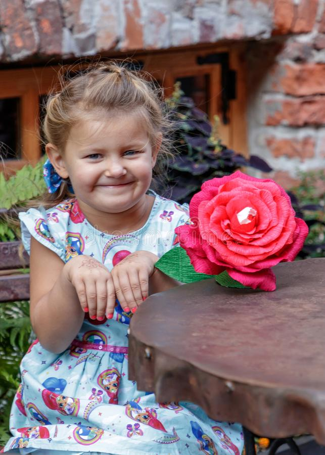 Little girl and emotion stock photos