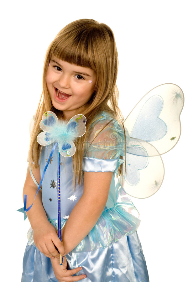 Little girl in a fairy costume royalty free stock photo