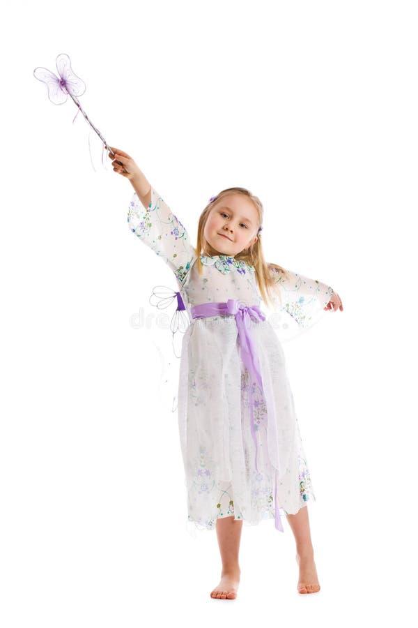 Little girl in fairy costume stock photo