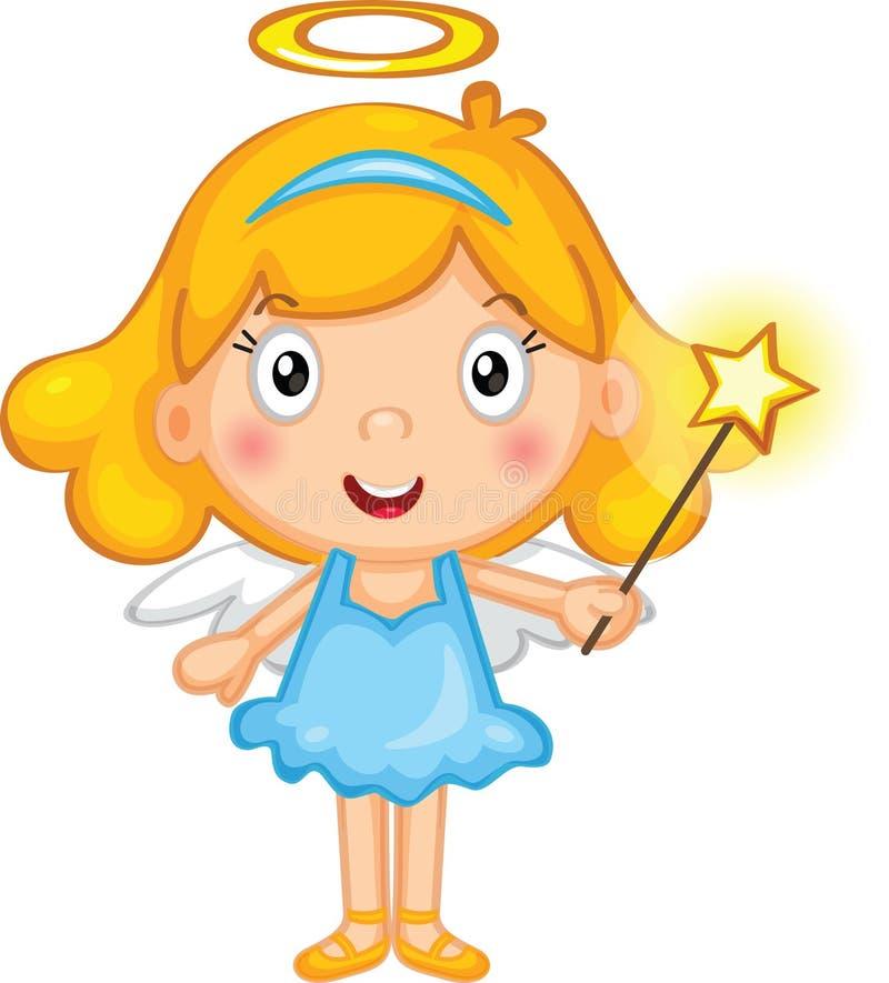 A little girl fairy stock illustration