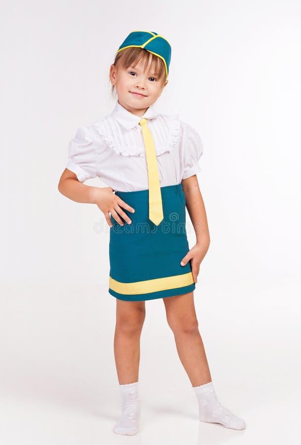 Little girl in fancy dress royalty free stock photo