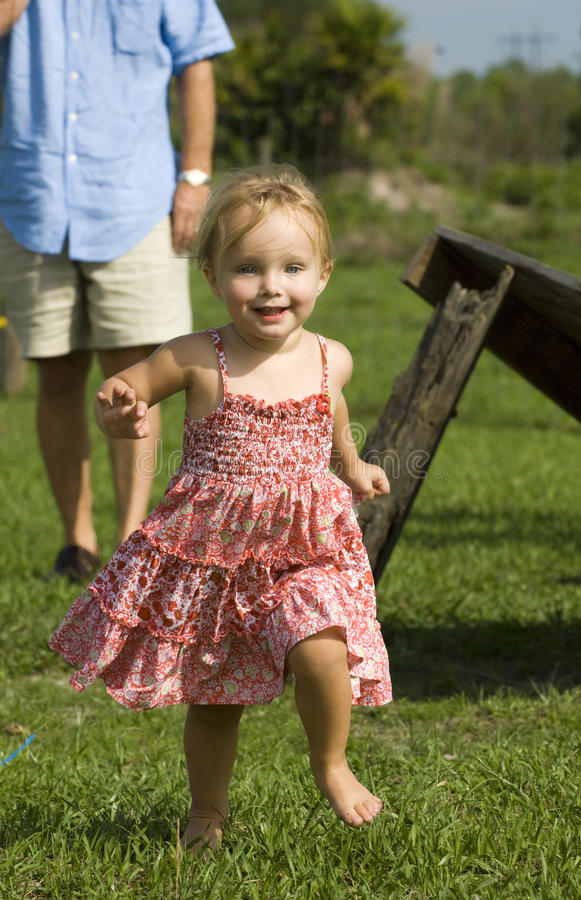 Little Girl On Farm Royalty Free Stock Images