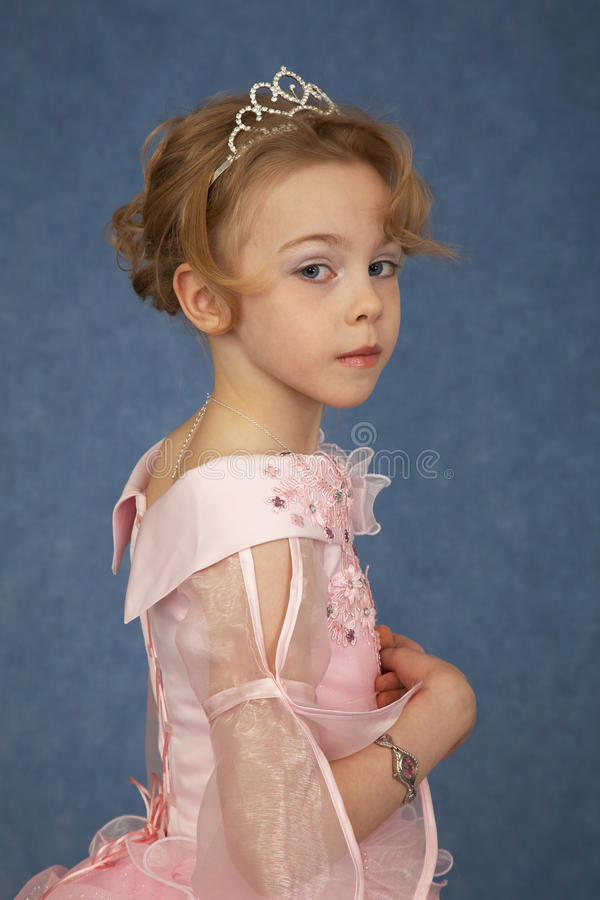 Little girl in fashionable dress royalty free stock photo