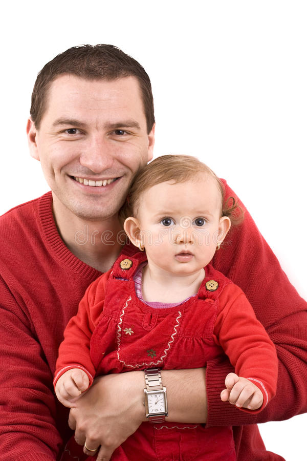 Little girl with father royalty free stock photo