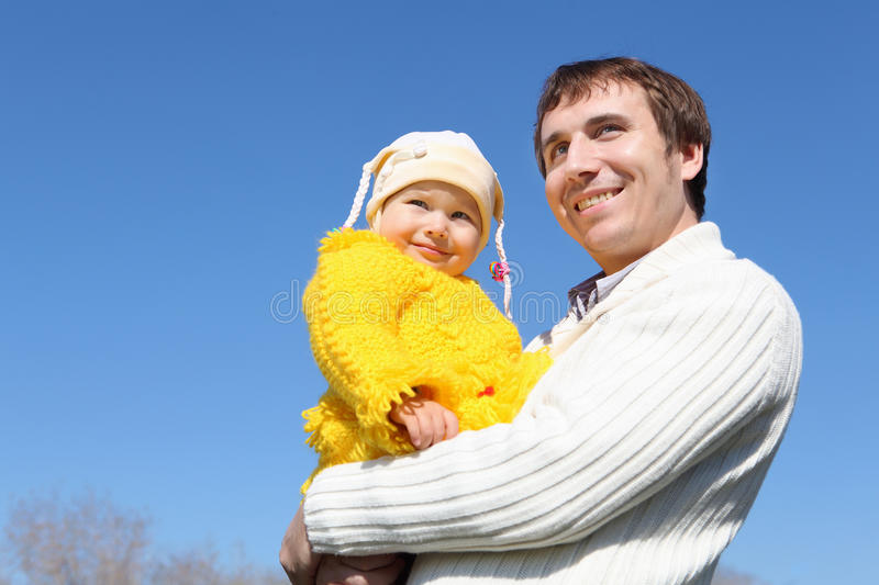 Download Little Girl With Father In Spring Park Stock Photo - Image: 19601744